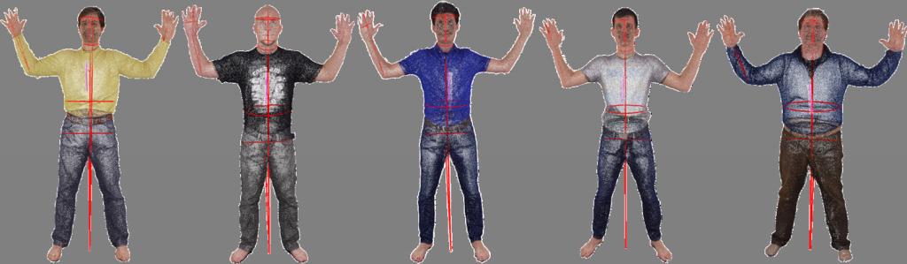 Extracted anthropometric measurements (Wasenmüller et al., 3DBST 2015)